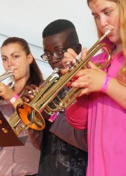 2014 OSB leerorkest op Uitmarkt5a