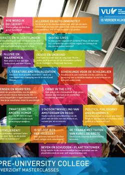 2016 flyer keuzeformulier Masterclasses Pre-University College1a