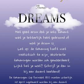 Tekenwedstrijd op de OSB thema 'dreams'