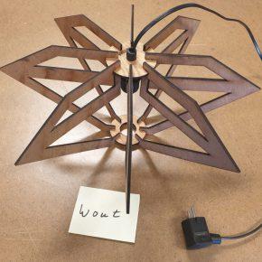 Ontwerpen en maken lamp, schoolexamenwerk vmbo 4 basis en kader